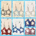 Resin STAR Drop Earrings ~ Glitter~ Variety of colours