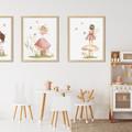 "SECRET FAIRY GARDEN  -Set of 4  Art Prints -  8x10"" in size"