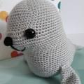 Seal, Crochet, Amigurumi, Baby, Nursery, Gift, Toy