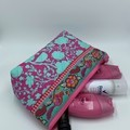 Large Zipper Pouches-Turquoise Dreaming