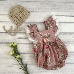 Floral Bellevue Romper, Size 000 or 00, Baby Girls Playsuit