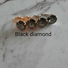 Swarovski Rivoli Crystal earrings Black diamond