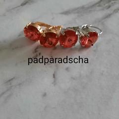 Swarovski Rivoli Crystal earrings padparadsha