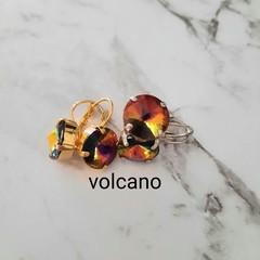 Swarovski Rivoli Crystal earrings volcano