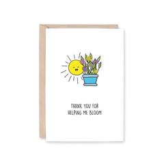 'Helping Me Bloom' Greeting Card