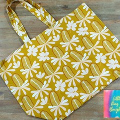Jocelyn Proust Mustard and Pink Banksia Tote Bag