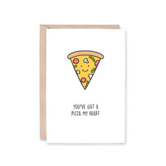 'Pizza My Heart' Greeting Card