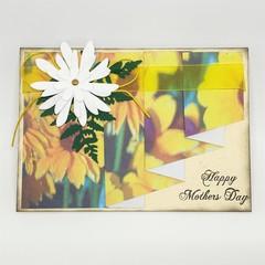 Mother's Day Card - Pleat Fold Daisy Print