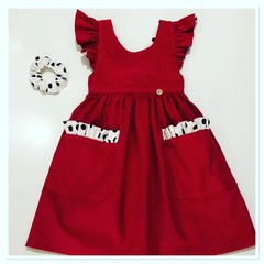 Pinafore  ( Red )