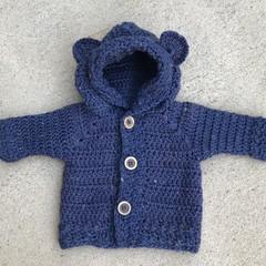 Crochet Bear Jacket/ Hoodie
