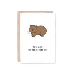'No Wombat-ter Than You' Greeting Card