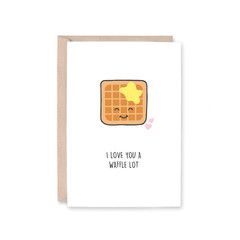 'Love You A Waffle Lot' Greeting Card