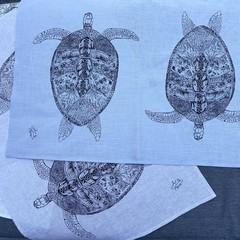 Turtle Journey - 100% Linen Tea Towel