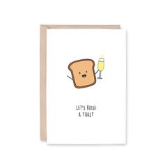 'Raise A Toast' Greeting Card
