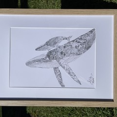 Whale Migration - A3 Print on Quality Card (unframed)