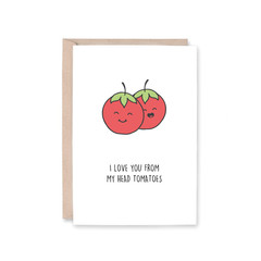 'From My Head Tomatoes' Greeting Card