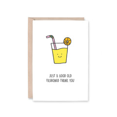 'Old Fashioned Thank You' Greeting Card