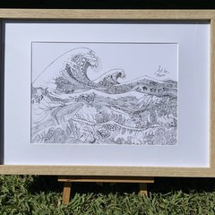 Life Under the Waves - A3 Print (unframed)