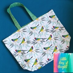 Rainbow Finch Tote Bag
