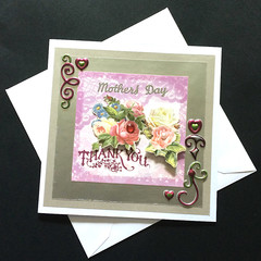 'Mother's Day - Thank You' Card with Flowers