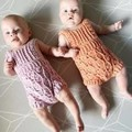 Crochet Ruffle Romper, Size 0-3m, Baby Girls Playsuit