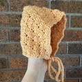 Baby Bonnet/ Booties set - size 6-12 months