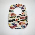 Baby Bib & Burp Cloth Gift Set | Feathers