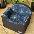 Tail Rider Dog Booster Seat - Small 'Navy Fireworks'
