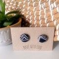 Indigenous  Fabric 19mm Studs