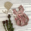 Floral Bellevue Romper, Size 000 or 00, Baby Girls Playsuit