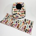 Baby Bib & Burp Cloth Gift Set | Feathers