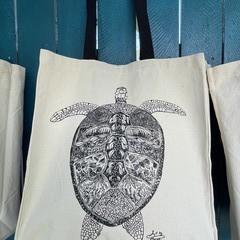 Turtle Journey - Canvas Tote Bag (40x37cm)
