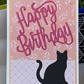 black cat Birthday  Card