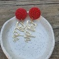 Red & gold dangles