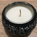 Black and Silver mosaic scented soy candles