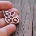Quarterfoil Copper Necklace