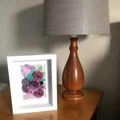 Roses and Butterfly shadow box
