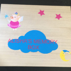Personalised Children's Paulowina Wood Memory Box Keepsake Box For Little Girls