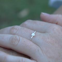 Dainty Silver Love Heart Ring