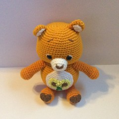 Bear, Crochet, Toy, Amigurumi, Teddy, Baby, Nursery, Gift, Care Bear