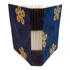 Handmade Buttonhole Stitch Journal or Sketchbook , Lightweight, Lays Flat