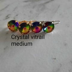 Swarovski Rivoli Crystal earrings crystal vitrail medium