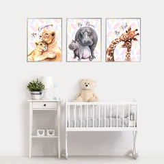 Animal Quotations Giraffes, Hippos and Lions Nursery DIY Printables