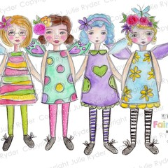 Instant Download Printable Set One Fairy Dolls and Friends Mix and Match