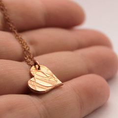 Copper Penny Heart Pendant