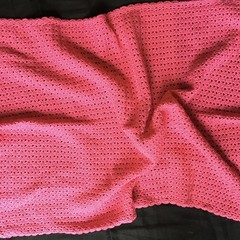 Baby Blanket Hand Crochet Hot Pink