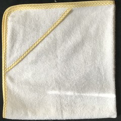 New Born Hooded Bath Towel Yellow Stripe