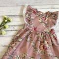 Floral Polly Pinafore Dress, Size 1 2 3 or 4, Girls Dresses