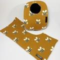 Baby Bib & Burp Cloth Gift Set | Bees