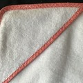 New Born Hooded Bath Towel Orange Circles